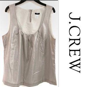 J. Crew Scoop-neck Sleeveless Silver Gray Top